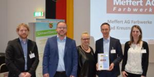 A Meffert AG, a düfa anyavállalata elnyerte az Ökoprofit Vállalat tanúsítványt
